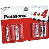 Panasonic Zink Carbon AA batterier - 8-pack