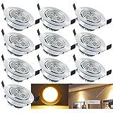 Hengda® LED Einbauleuchte Wohnzimmer Decken Leuchte Lampe Spot Strahler (10er pack Warmweiß)