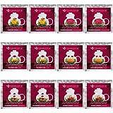 Teabloom Herzförmiger Blütentee – Geschenk-Set mit 12 zusammengestellten Blühenden Teeblumen - Grüner Tee + Jasmin, Granatapfel, Erdbeere, Rose, Litchi & Pfirsich - 8