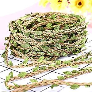 Make it Funwan – Guirnalda de hojas artificiales de hojas de follaje falsas, 20 m