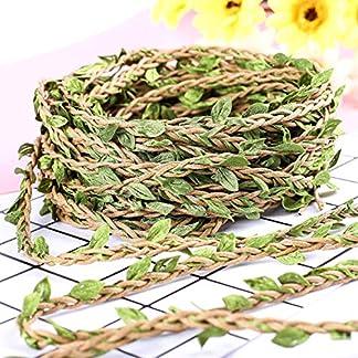 make it funwan – Guirnalda de Flores Artificiales de Vino, 20 m, para decoración del hogar, Boda rústica