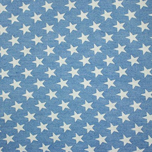 Preisvergleich Produktbild Jeans Sommerjeans blau Sterne weiß 1, 40cm Breite