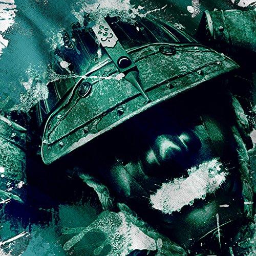 Krieger solider Fantasie Samurai Damen Schwarz S-2XL Muskelshirt | Wellcoda Weiß