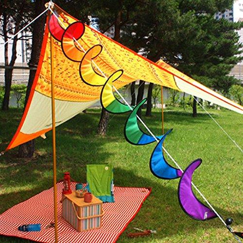 61JbkydbFWL. SS500  - Nylon Spiral Rainbow Wind Spinner Tent Garden Decoration Colorful