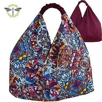 ORIGAMI-TASCHE Damen Shopper Einkaufstasche Schultertasche – Schmetterlinge