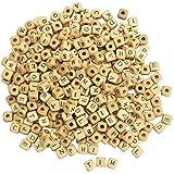 Buchstaben-Würfel natur, 300 Stück aus Holz ca. 10x10 mm ✓ Buchstaben-Perlen mit Lochgröße ca. 4mm ✓ Holz-Perlen / Fädelperlen Perlenwürfel abgerundete Ecken ✓ Schmuckperlen | trendmarkt24 - 32005
