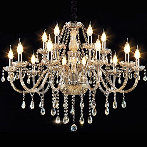 15 Licht-kristall-kronleuchter (*Kronleuchter Kristall-Kronleuchter-Beleuchtung 70ht X 95wd 15 Lichter Befestigungs-hängende Decken-Lampe (Color : A-95 * 70CM))