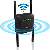 WLAN Verstärker,4 Antennen Internet Verstärker 5G&2.4G LAN Port WLAN Amplifier Dual Band Signalverstärker mit Access…
