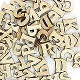 100 letras del alfabeto, de Outflower, de madera, en mayúscula, de la A a la Z, para manualidades, al azar