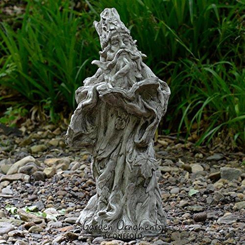 Wizard-/Verde mano in pietra, dettagliate decorazione da giardino/Statua/Scultura