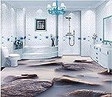 Malilove 3D-Stock Malerei Wallpaper Meer Stein Cloud 3D Stereo Etage Bad Wasserdicht Pvc-Boden Wallpaper Wallpaper 3D Bodenbeläge