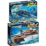Playmobil Top Agents 2 pcs. Set 70002 70005 SPY TEAM Turbo Ship + TEAM S.H.A.R.K. Drill Destroyer