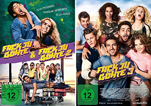Fack ju Göhte / Fuck you Göthe 1/2 + 3 im Set - Deutsche Originalware [3 DVDs] -