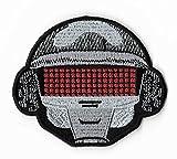 Robot Diseño con casco/8cm) hierro bordado parche coser en insignia DIY Punk disfraz