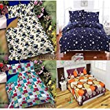 RS Home Furnishing Combo Set Of 4 Glace Cotton Double Bedsheet With 8 Pillow Covers Color-Multi