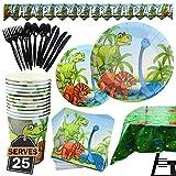 Kompanion Set de 177 Piezas de Fiesta Diseño de Dinosaurio