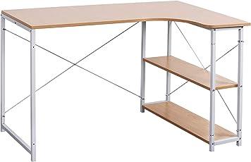 Fesselnd WOLTU Schreibtisch Computertisch Büromöbel PC Tisch Bürotisch Arbeitstisch  Aus Holz Und Stahl, Mit Ablage,