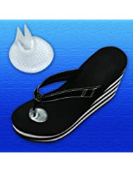 Silipos Sandal Gel Toe Protector | 1 Pair | One Size Fits All | Peel & Stick Gel Toe Cushion for Sandals & Flip Flops