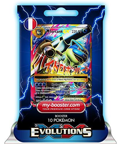 MEGA TORTANK EX FULL ART 102/108 220PV XY12 EVOLUTIONS - Booster de 10 cartes Pokemon francaises my-booster