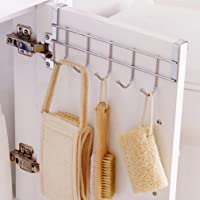 Right Traders Multi Functional Stainless Steel Space Saving Over The Door Hanging Hooks for Towel   Clothes   Bag   Coat and Other Wardrobe Storage Organizer Holder (Multi) - (Pack of 1)