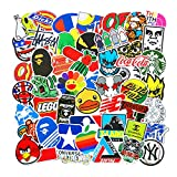 Lot de 100 Autocollants Tendance pour Ordinateur Portable, Moto, vélo, Skateboard, Bagages, Graffiti