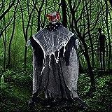GLCS GLAUCUS Halloween Decorazione Fantasma Appeso Scheletro Corpo Completo Figura Intera con Giunture Mobili per la Miglior Spettro Faceless Ghost Giocattolo Animato (Pagliaccio)
