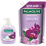 Palmolive Naturals Black Orchid & Milk Liquid Hand Wash - 250 ml Pump with Refill Pack - 750 ml