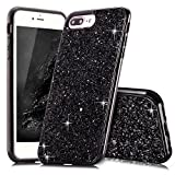 Coque iPhone 8 Plus Noir Coque iPhone 7 Plus 5.5' Slynmax Silicone Paillette Strass...