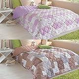 7dreams® Tagesdecke Bettüberwurf 220x240cm Sofa Couch Überwurf Decke Gesteppt Steppdecke (Taupe)