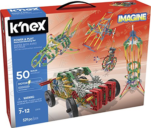 K'NEX - Imagine mega cajón power and play 50 modelos, 530 piezas...
