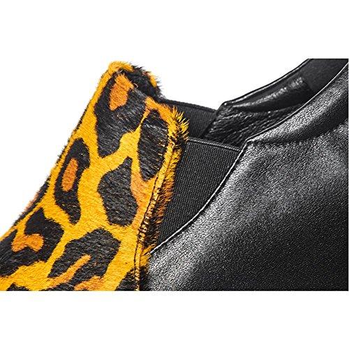 Suola Spessa Piattaforma Donna WSXY-A0509 Tacco Zeppa Tomaia Creativa,KJJDE Yellow