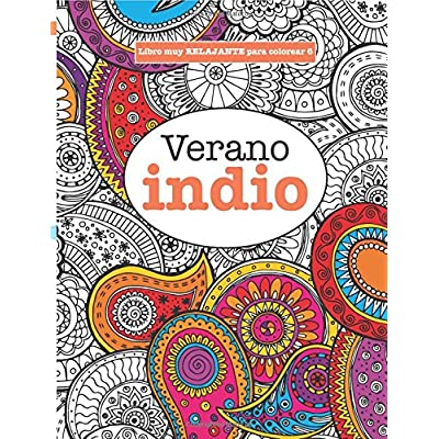 Libros Para Colorear Adultos 6 Verano Indio Volume 6 (Libros Muy ...