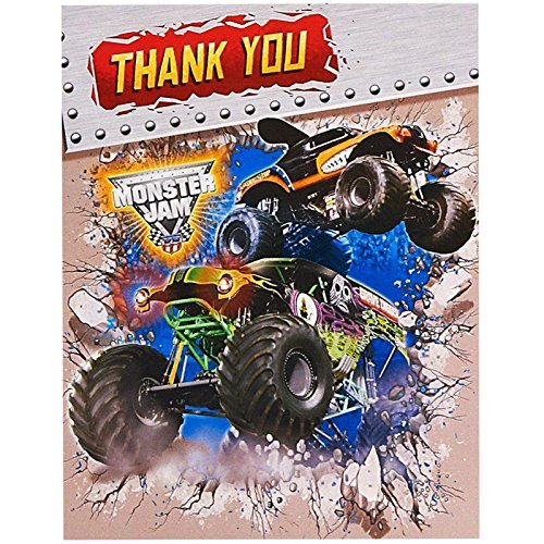 Monster Jam Party Supplies - Thank-You Notes (8) by Pary Destination (Supplies Jam Monster Party)