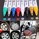 Speedwav 1pcs Universal Red Car Motorcycle Whatproof Permanent Tyre Tire Tread Rubber Paint Marker Pen Vinylchange28