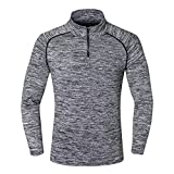 Zesteez Men's Polyester Lycra Stretchable Fabric Full Sleeves Sports and Gym Wear T-Shirt