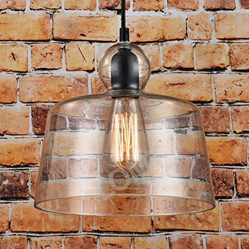 LOMT Suspension/plafonnier moderne en verre Style industriel Design vintage