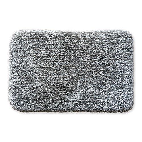 Preisvergleich Produktbild Lx.AZ.Kx Fußmatte Das Büro Der Salon Tür Bad Fußmatte einfache und stilvolle Waschbar Waschbar Plüschtier dicker Teppich, 60 X 90 Cm, Hellgrau