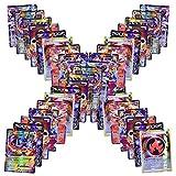 Anivia Jeux De Cartes 100 Pcs Pokemon Cartes Style TCG Holo EX Full Art 59 Cartes EX 20 Cartes Mega...