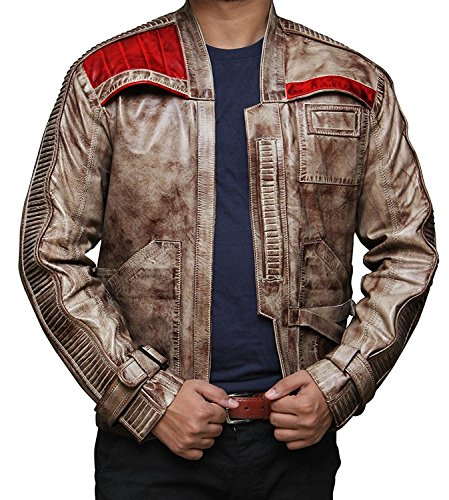 t Finn Wachs Jacke Kostüm–John poyega PoE Dameron (Rebsorte) Pilot Jacke Gr. X-Small, beige (Finn-jacke)