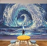 WH-PORP 3D tapete Laser des Kleinen Jungen beschwört die Sea Tornado Aesthetical Anime und Animation Film-350cmX245cm
