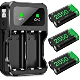 BEBONCOOL Batterie Manette Xbox One, Chargeur Manette Xbox One pour Contrôleur Xbox Series X/S   Xbox One/One S/One X/One Éli