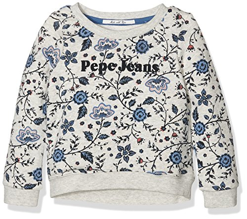 Pepe Jeans Maggy, Felpa Bambina, Grigio (Lt Grey Marl), 6 anni (Taglia Produttore: 6)