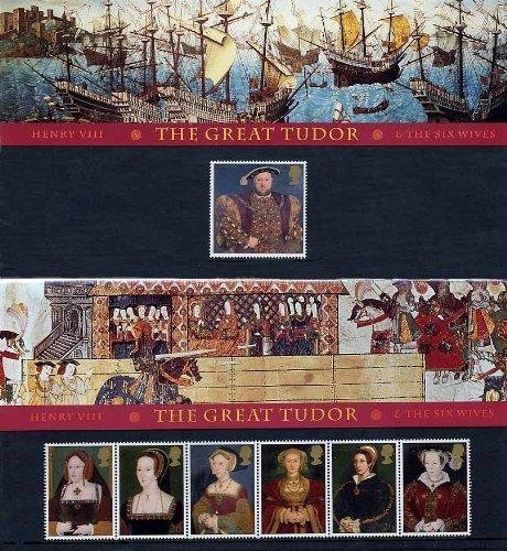 1997 Henry VIII - The Great Tudor Stamps in Presentation pack by Royal Mail -