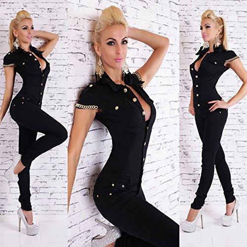 2017 Fashion Denim Lange Overall Sexy tiefen V-Ausschnitt, Jean Combinaison Schwarz Playsuit Overalls f¨¹r Frauen