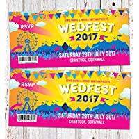 Festival Wedding Invitations - Sample Pack