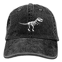 tyui7 T Rex Skeleton Dinosaur Adult Cowboy HAT,One Size