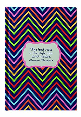 Eccolo Great Minds Somerset Maugham Quote Hardcover Journal, Multicolored Print, 5-1/2 by 8-Inch