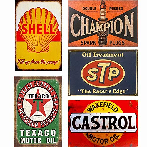 Easy Painter Motor Metallschilder für Garage, Wandaufkleber, Eisen, Shabby Chic, Hausplakes, 20 x 30 cm, 5 Stück