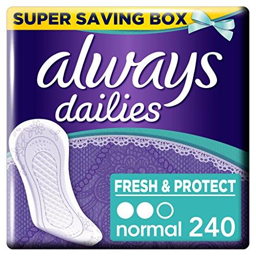 Always Dailies Frisch und schützen Slipeinlagen Normal, 4Stück X 60-count