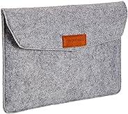 """Amazon Basics - Custodia a guaina in feltro, per laptop 11"""" (28 cm), Colore: Grigio chiaro"""